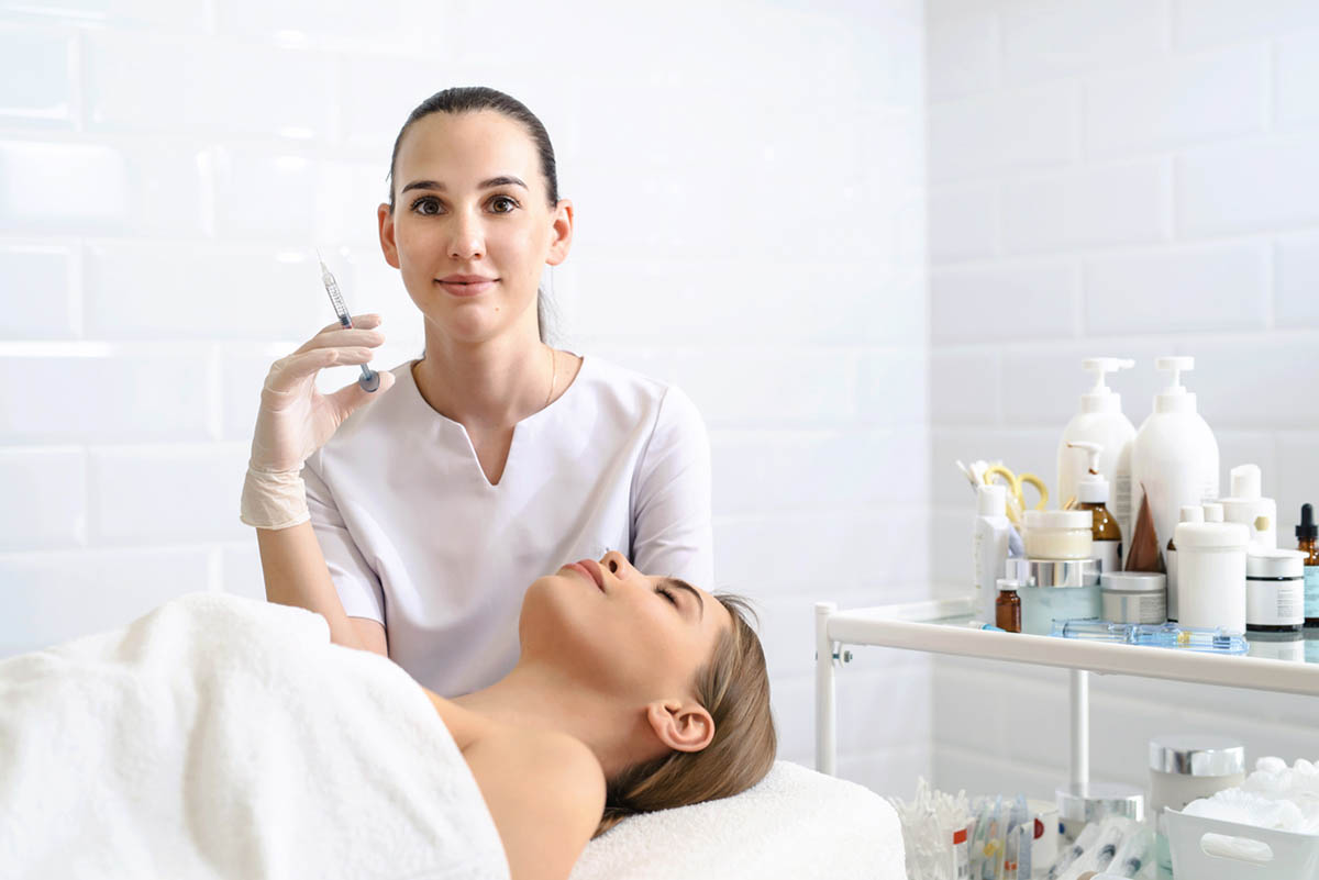 Doctor and patient ready for skin booster
